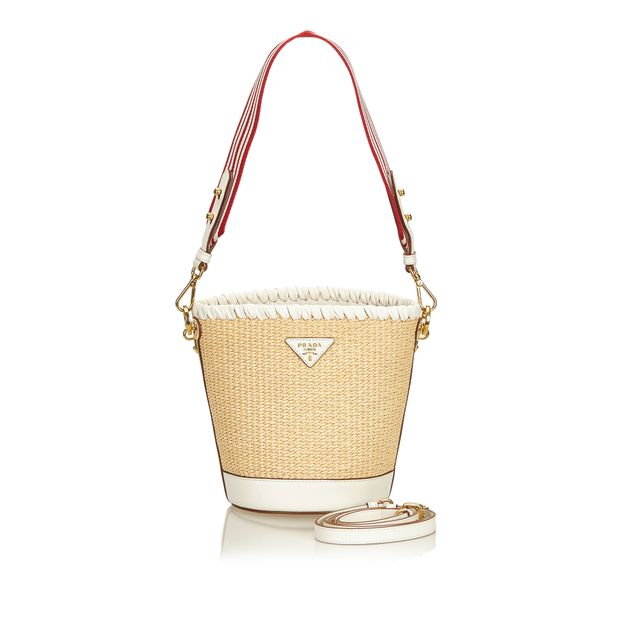 11f05e85d66f Raffia Bucket Bag by PRADA | StyleTribute.com