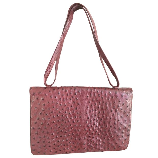 996e8907913 NINA RICCI ostrich vintage leather bag by NINA RICCI   StyleTribute.com