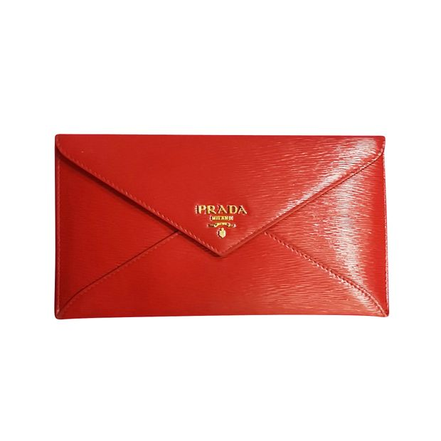 fa97ab7e5c0732 PRADA Red Envelope Wallet PRADA Red Envelope Wallet zoomed