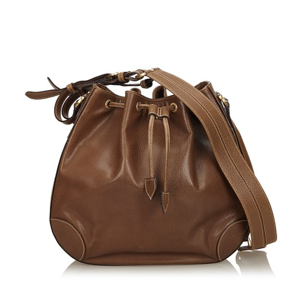89fde37bf58 GUCCI Old Gucci Leather Shoulder Bag GUCCI Old Gucci Leather Shoulder Bag  zoomed