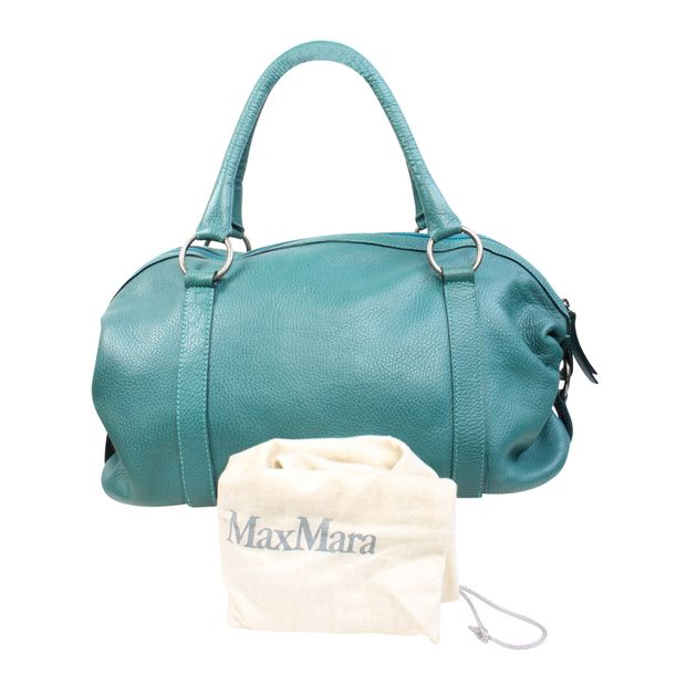 Green Leather Hand Bag By Max Mara