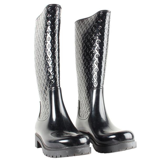 127c216805b3 Rainboot Rubber LV Logo Boots by LOUIS VUITTON