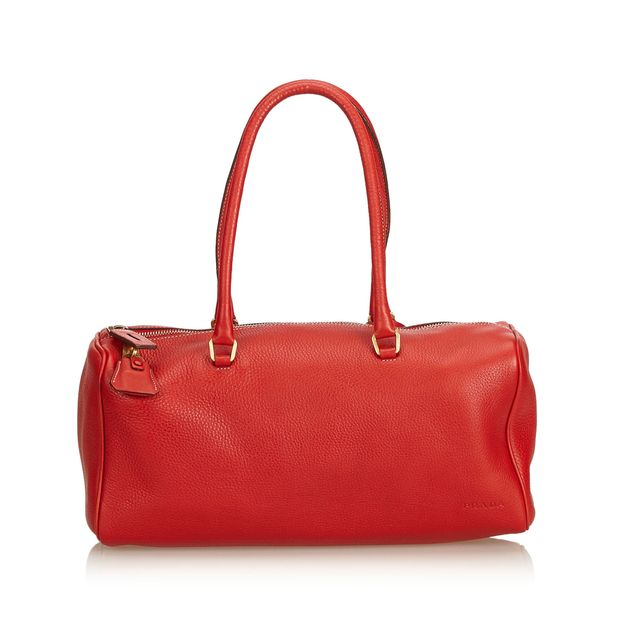 de87f89969a1 Vitello Daino Shoulder Bag by PRADA | StyleTribute.com
