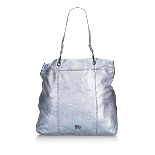 Leather Burberry Metallic Bag By Tote PiuZXOk