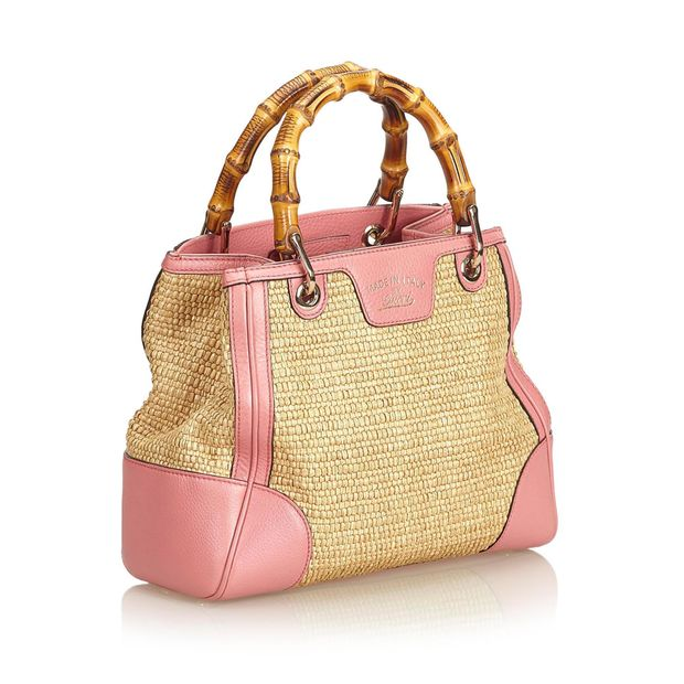 16fcd9e451604c Small Bamboo Straw Satchel by GUCCI | StyleTribute.com