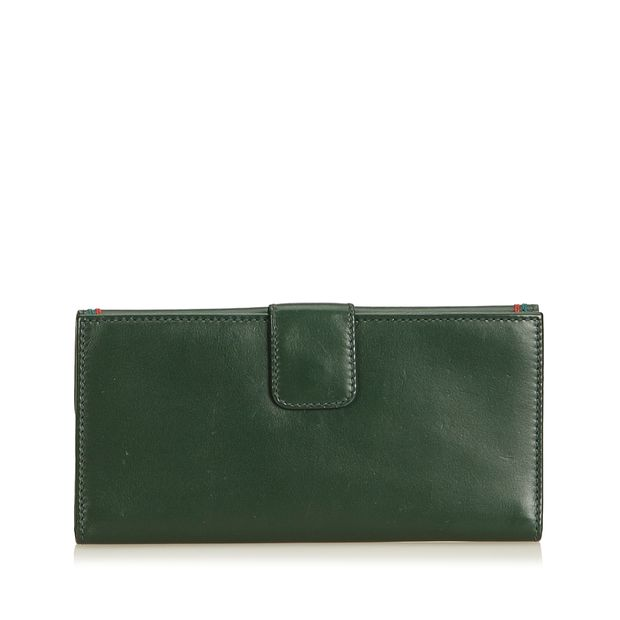 1f846ee9ef5 GUCCI Leather Long Wallet 2 thumbnail