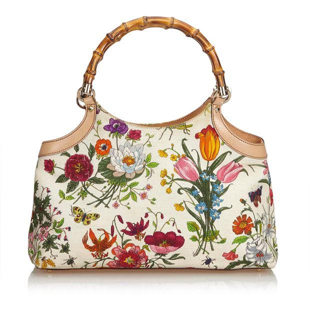 02feebc806c Flora Bamboo Handle Handbag by GUCCI