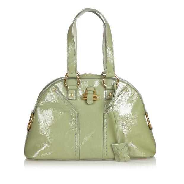 3a8384bdf7 Leather Muse Handbag by YVES SAINT LAURENT
