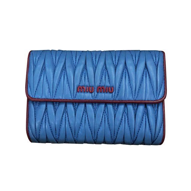 7f3451091959 Miu Miu Matelasse Napa Leather Wallet by MIU MIU