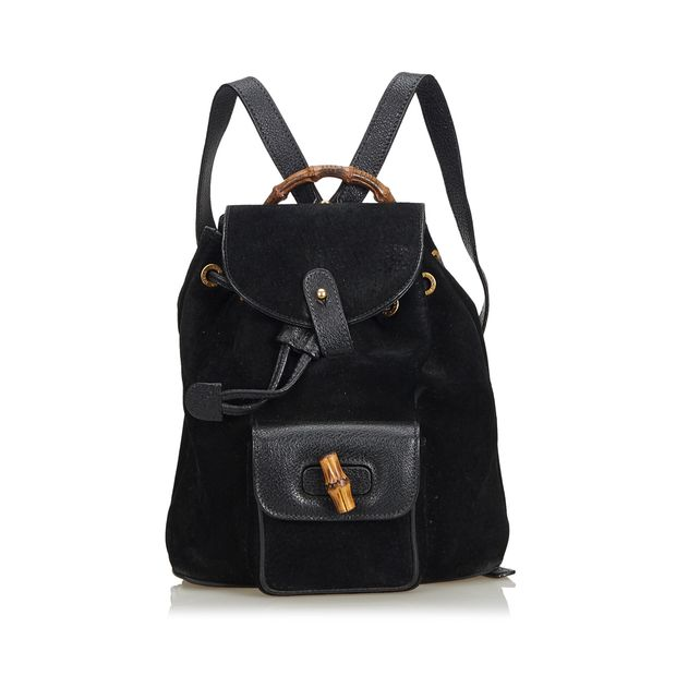 Bamboo Nubuck Leather Backpack by GUCCI