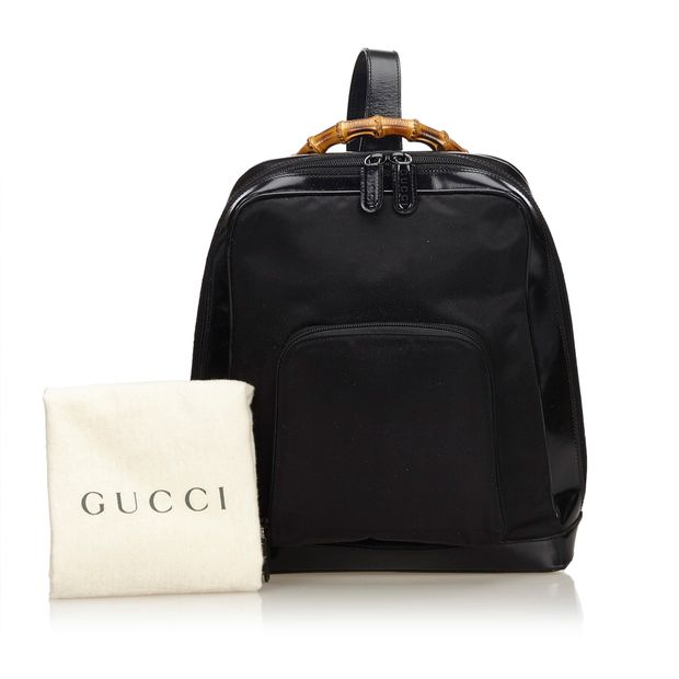 94c4cb76233 Bamboo Nylon Sling Backpack by GUCCI