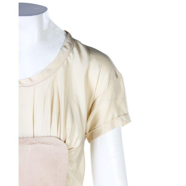 0730ef893b04f MIU MIU Colour Block Silk Dress 4 thumbnail