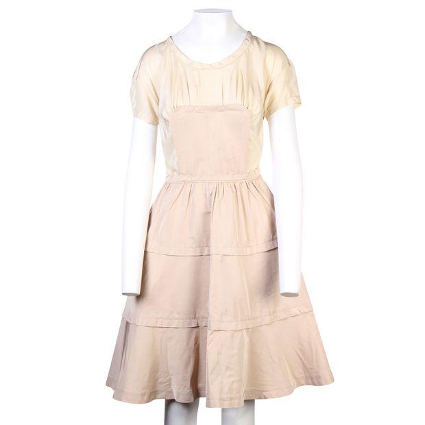 28e0874a761f5 MIU MIU Colour Block Silk Dress 1 thumbnail
