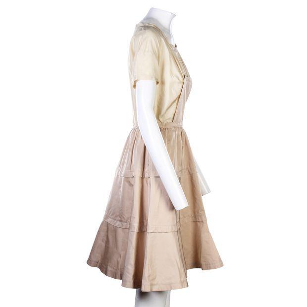 b2cd66a1212e9 MIU MIU Colour Block Silk Dress 3 thumbnail