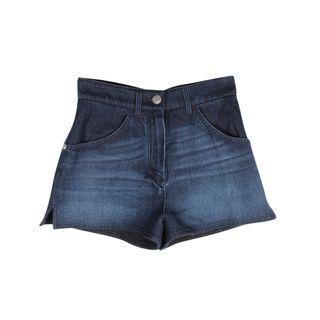 858888b912b7 CHANEL High Waist Denim Shorts