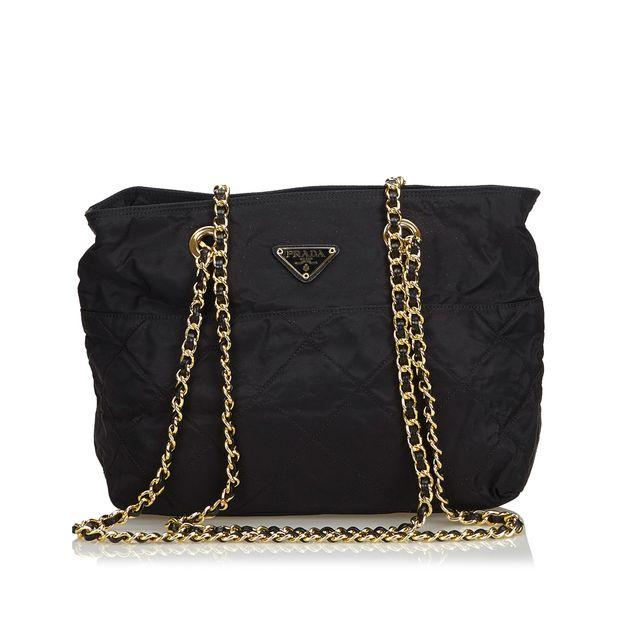 2a73909577a8b5 Nylon Chain Shoulder Bag by PRADA | StyleTribute.com
