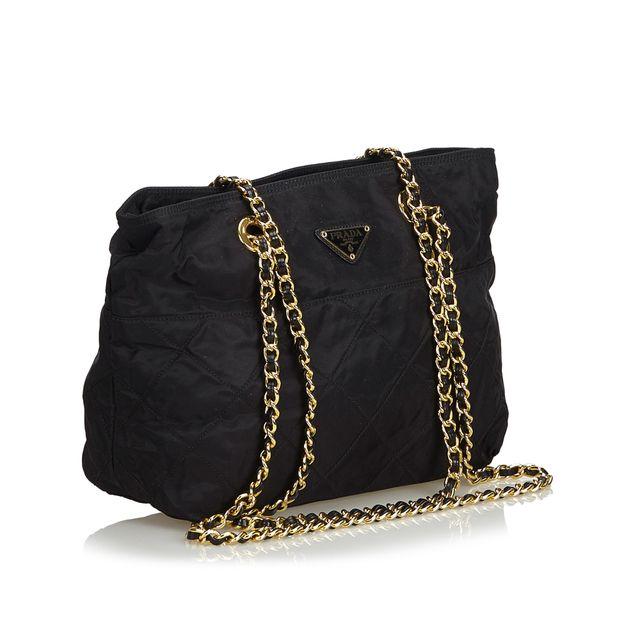 bdd1a679c3b34e Nylon Chain Shoulder Bag by PRADA | StyleTribute.com
