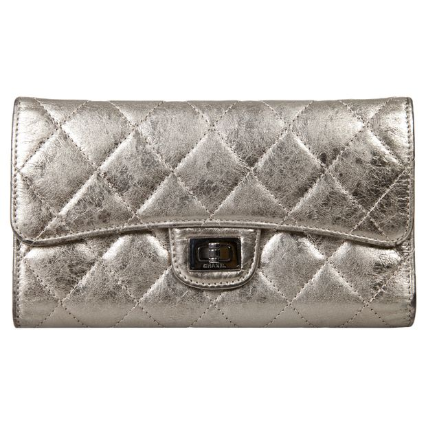 bbb5d736d70e 2.55 Reissue Quilted Metallic Wallet by CHANEL | StyleTribute.com