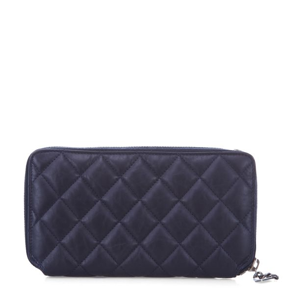 542a9062bbd5 Zippy Quilted Mademoiselle Wallet by CHANEL | StyleTribute.com