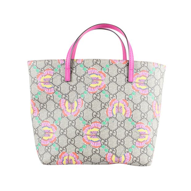 71c485c590df GG Supreme Butterfly Mini Tote Bag by GUCCI | StyleTribute.com