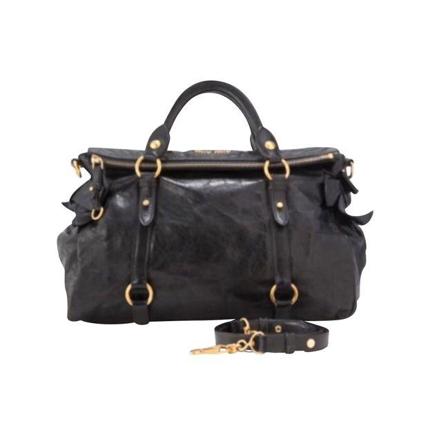 6e409e6d0ddc Vitello Lux Bauletto Aperto Bag by MIU MIU