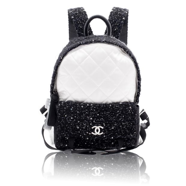 5115e74298f0 CHANEL Tweed and Nylon Astronaut Essentials Backpack 0 thumbnail