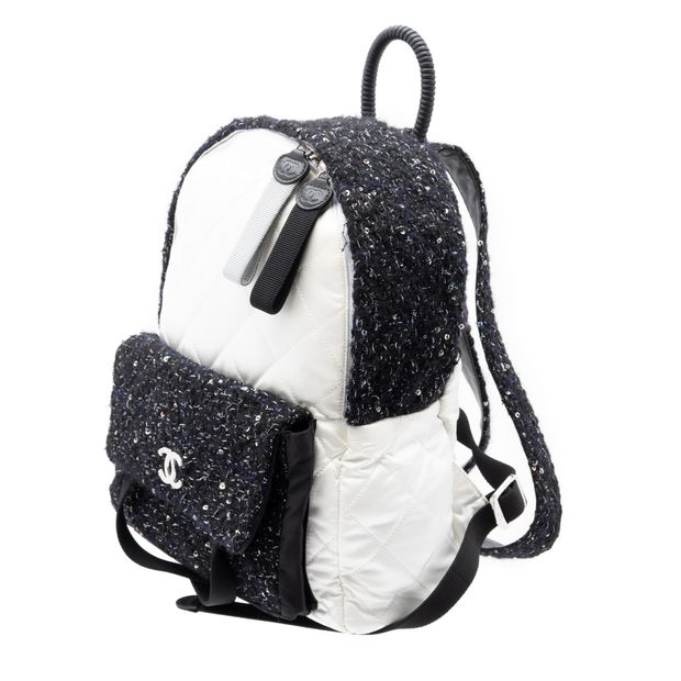 1acdc97e11a9 CHANEL Tweed and Nylon Astronaut Essentials Backpack 1 thumbnail