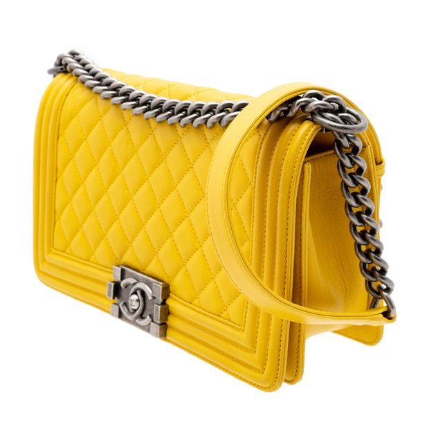 fbfe6e4e7391 Quilted Calfskin Leather Small Boy Bag by CHANEL | StyleTribute.com
