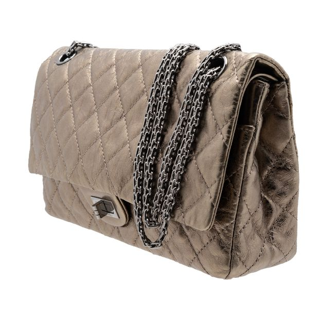8489395da59e CHANEL Bronze 2.55 Reissue Quilted Classic Calfskin Leather 225 Flap Bag 1  thumbnail