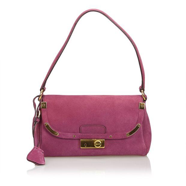 3b76ebc143d2 Suede Shoulder Bag by PRADA
