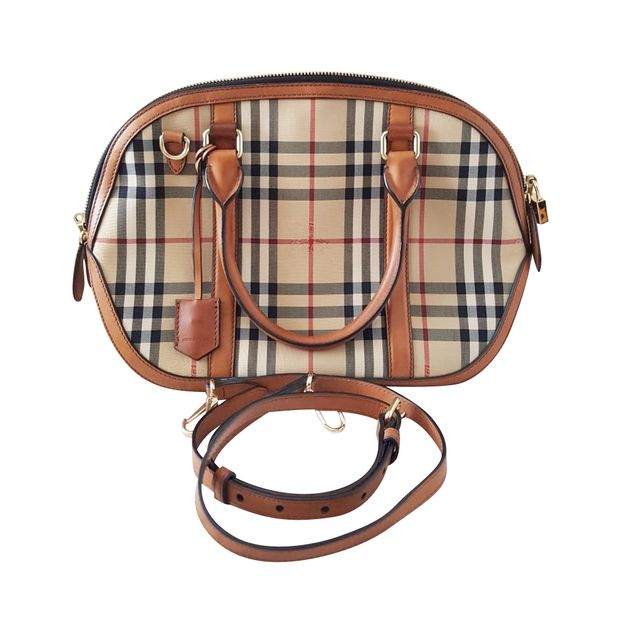 6d5c6af952c9 BURBERRY Haymarket Orchard Bowling Bag 0 thumbnail