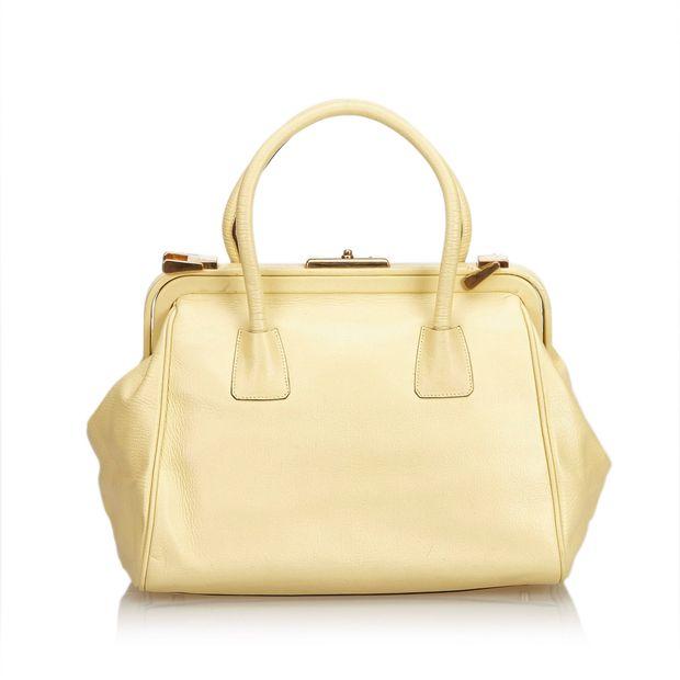 76abd49d0cfd PRADA Leather Handbag 2 thumbnail