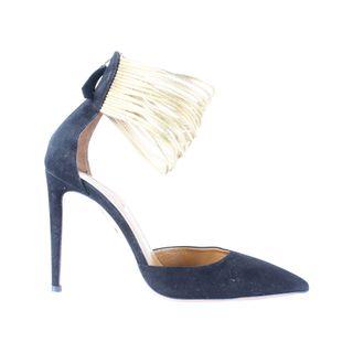 8b8d4d7aa344ec AQUAZZURA Gold Ankle Strap Heels