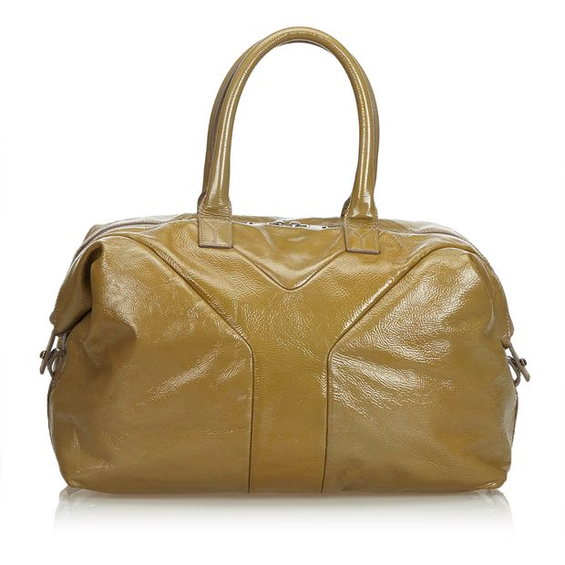 1dc57246395 Leather Easy Boston Bag by YVES SAINT LAURENT | StyleTribute.com