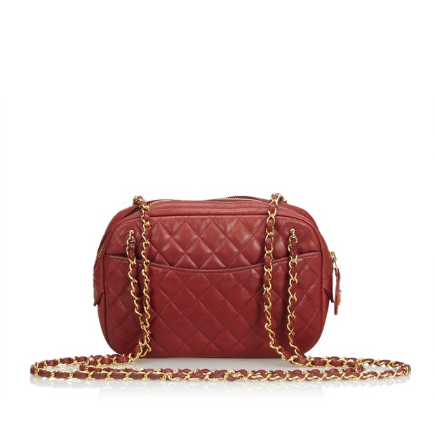 be7eb5a501c2 Lambskin Leather Quilted Camera Bag by CHANEL | StyleTribute.com