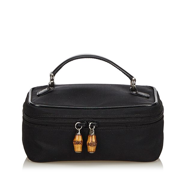 1ce1e5248044d Nylon Bamboo Vanity Bag by GUCCI