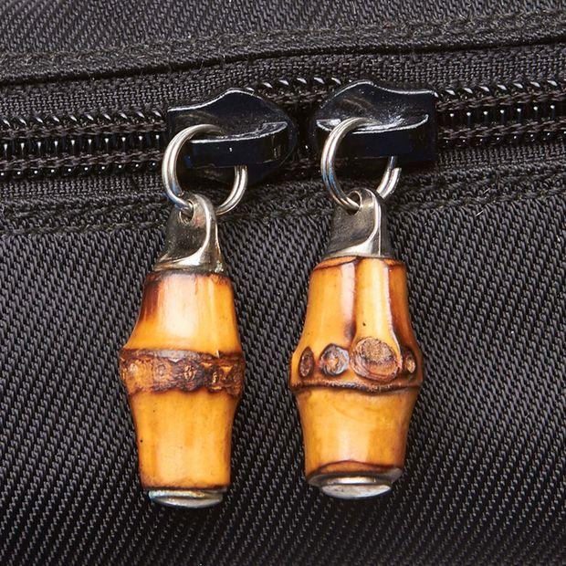 bde72865bc767f Nylon Bamboo Vanity Bag by GUCCI | StyleTribute.com