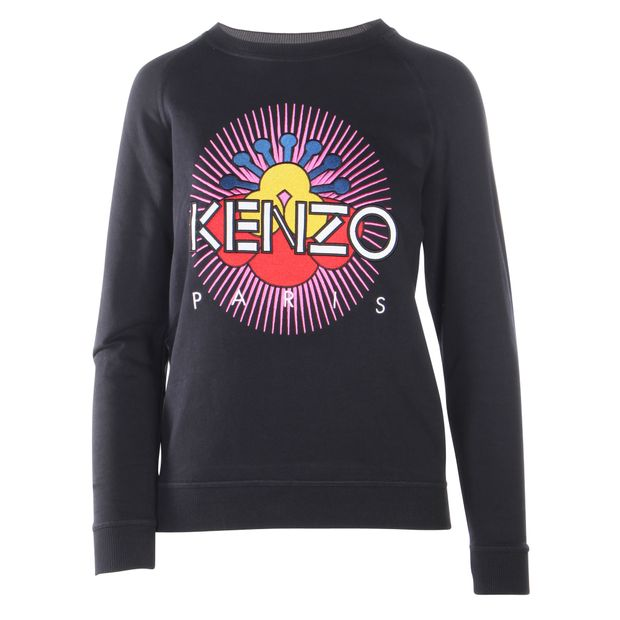 49d6922c Black Sweat With Embroidered Logo by KENZO | StyleTribute.com