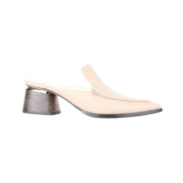 24285feeb6614 Pointed Toe Leather Nude Mules by NICHOLAS KIRKWOOD | StyleTribute.com