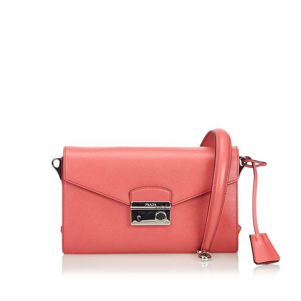 945d5fe7faf885 Saffiano Mini Sound Crossbody Bag by PRADA   StyleTribute.com