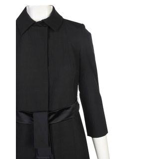 370dcdbe6 VERA WANG. Black Long Coat
