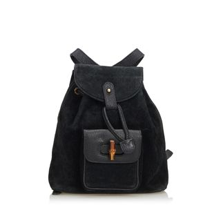 14ab2530f84c Bamboo Leather Drawstring Backpack by GUCCI | StyleTribute.com