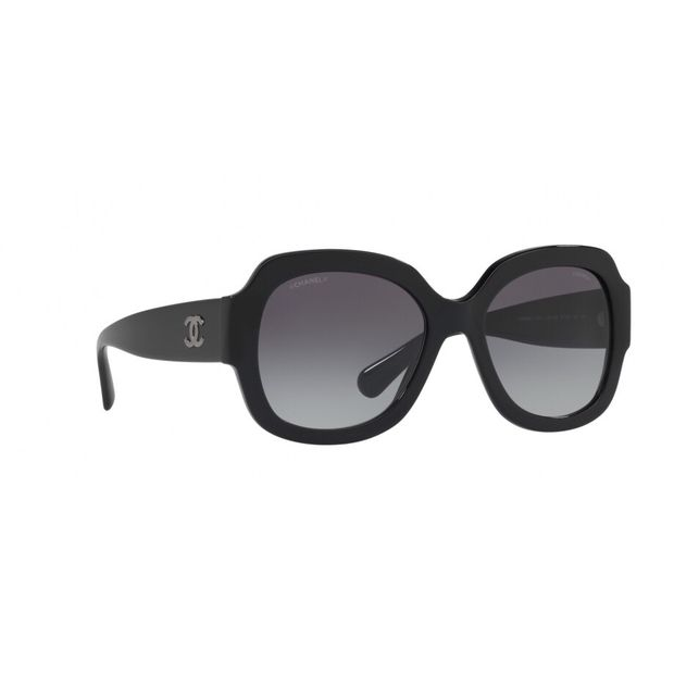 3548008ccc39 Chanel Sunglasses Square/Round Black by CHANEL | StyleTribute.com