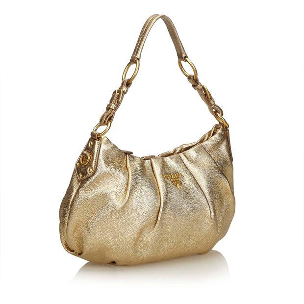 ba1c2c4a3dc6 Leather Hobo Bag by PRADA | StyleTribute.com