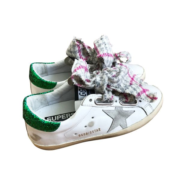 Authentic Second Hand Checked Sneakers