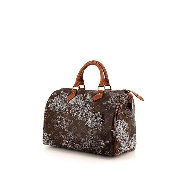 b3696abb1571 LOUIS VUITTON Speedy Limited Edition Handbag in brown monogram canvas and natural  leather 0 thumbnail