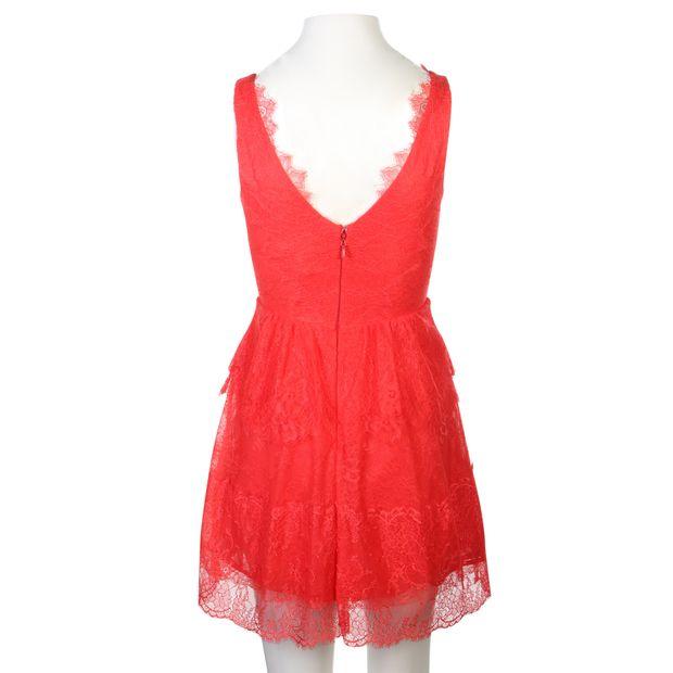 eac5769aa91 BCBGMAXAZRIA Red Laced Dress 0 thumbnail