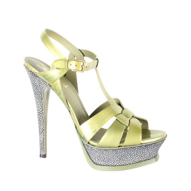 aa0d6ed539b Tribute Platform Sandals by YVES SAINT LAURENT | StyleTribute.com