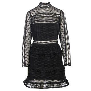 44317bb0d0e SELF-PORTRAIT Black Laced Dress