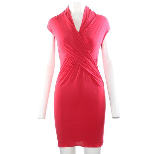 22320a27167 BCBGMAXAZRIA Red Summer Dress 0 thumbnail